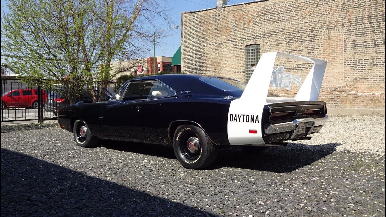 1969 Dodge Charger Daytona 426 Hemi In Black Paint White Wing On My Car Story With Lou Costabile Youtube