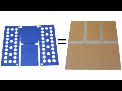 9db556aa Shirt Folding Board Made from Cardboard and Duct Tape - YouTube