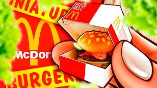 Realistic Miniature McDonald's HAMBURGER Tutorial! | DollHouse DIY ♥