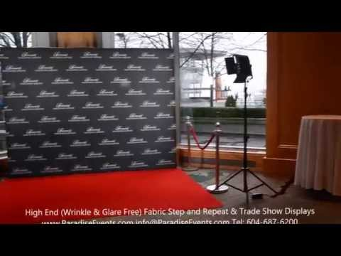 Step and Repeat Red Carpet Backdrop Photo Backgrounds Fairmont Waterfront Vancouver