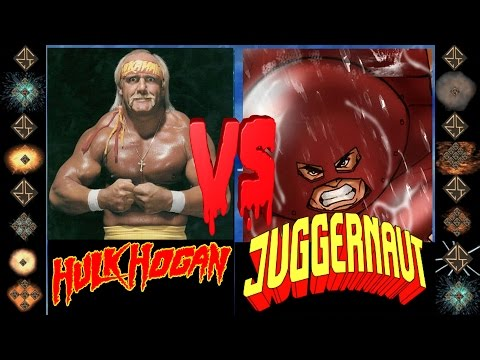 Hulk Hogan (WWE) vs Juggernaut (Marvel...