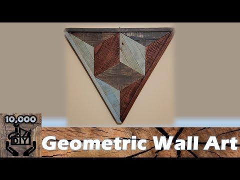Triangle Wall Art DIY | Wood Decor | geometric wall art | reclaimed wood art | pallet art