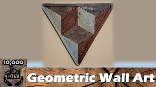 Triangle Wall Art DIY | Wood Decor | geometric wall art | reclaimed wood art | pallet art