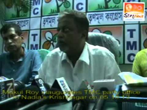 Mukul Roy inaugurates TMC party office in Nadia