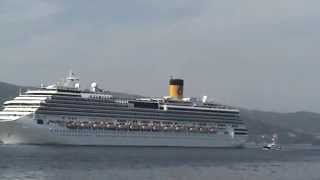 COSTA PACIFICA  saliendo del Puerto de Vigo. 06-09-2012