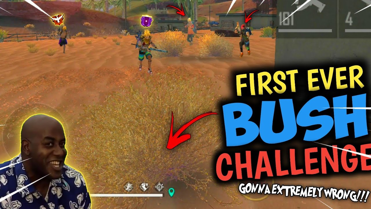 Only Monkey Bush Challenge 😧😆 Gone Extremely Wrong!!! - FREEFIRE Challenge Video #2 - Shadow Shooter
