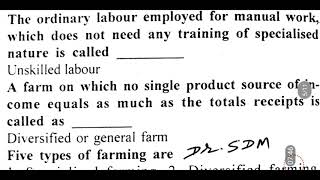 Agricultural economics and farm management,  questions and answers, general agriculture part-62