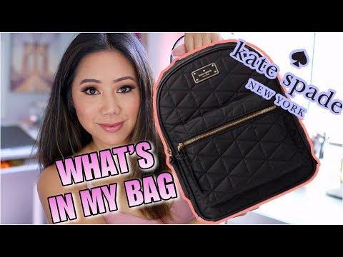WHAT'S IN MY BAG? KATE SPADE BACKPACK thumbnail