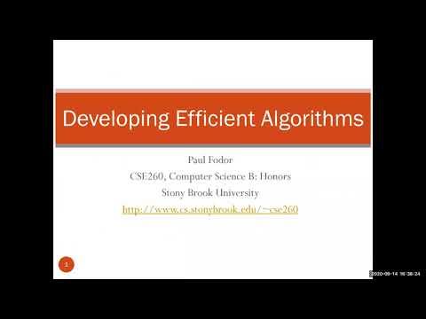 CSE260: Computer Science B: Honors: Efficiency Of Algorithms (part 1)