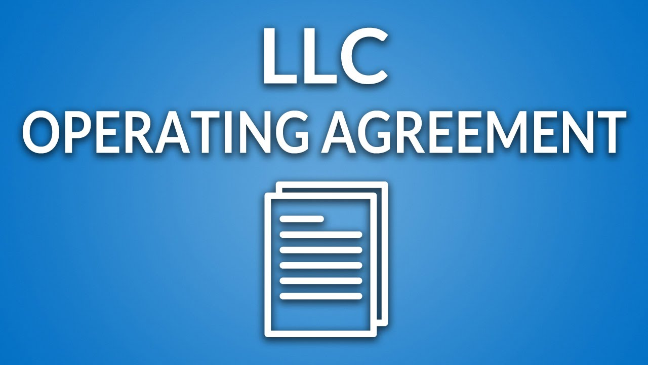 LLC Operating Agreement Template Instructions YouTube - Husband and wife llc operating agreement template