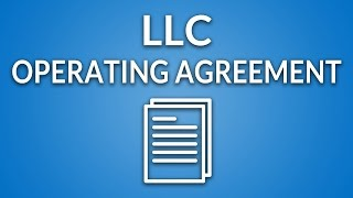 LLC Operating Agreement (template + instructions) Video