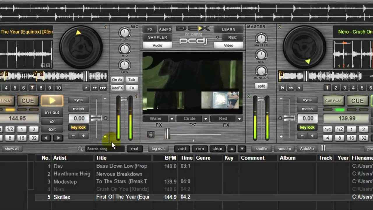 pcdj dex 2 5 dj software new features overview youtube. Black Bedroom Furniture Sets. Home Design Ideas