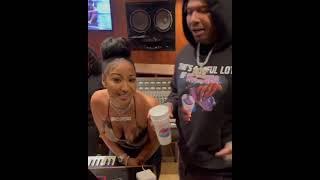 Shenseea & MoneyBagg Yo In Studio Freestyle.. #Shorts