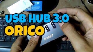 review usb hub 3.0 orico shc-u3 4 port yang bagus terbaik [indonesia]