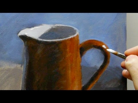 Acrylic still life painting for beginners – Part 1 of 3