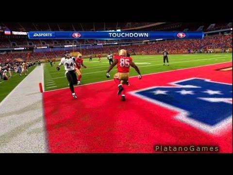 Vernon Davis Touchdown Kaerpernick - Ravens vs 49ers 2013