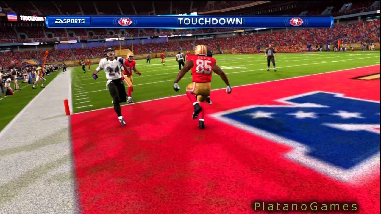 NFL Super Bowl XLVII - Vernon Davis Touchdown Kaerpernick - Ravens vs 49ers  2013 - Madden 13 - HD f939c9a7c