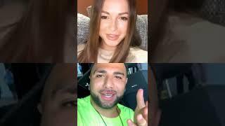 Нюша и Артём Качер в прямом эфире Instagram (19.09.19)
