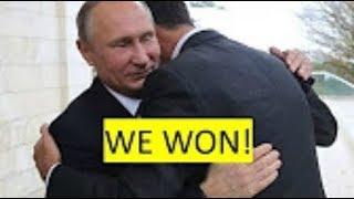 BREAKING Assad Syrian President &  Putin Embrace in Russia November 2017 News