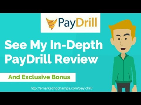 My [Full] PayDrill Review & PREMIUM Bonus Package: Click here to see my Exclusive PayDrill 'Fast Profit' Premium BONUSES: http://emarketingchamps.com/pay-drill/
