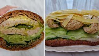 [1분완성] 바질페스토 닭가슴살 함박스테이크 샌드위치 …