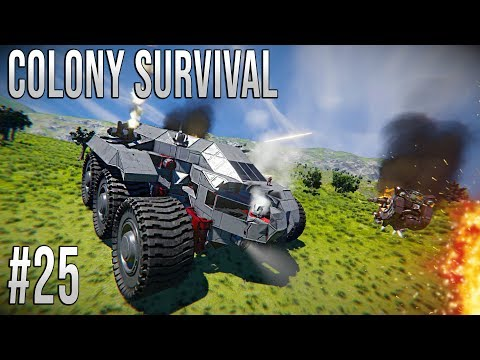 Space Engineers - Colony Survival Ep #25 - ROVER ATTACK!!!