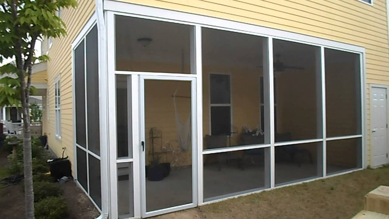 Screen Room Enclosure Completion Rain-Go Exterior Roofing,Siding,Gutters  Raleigh NC