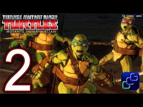Teenage Mutant Ninja Turtles: Mutants In Manhattan Walkthrough - Part 2 - Stage 2 Rocksteady