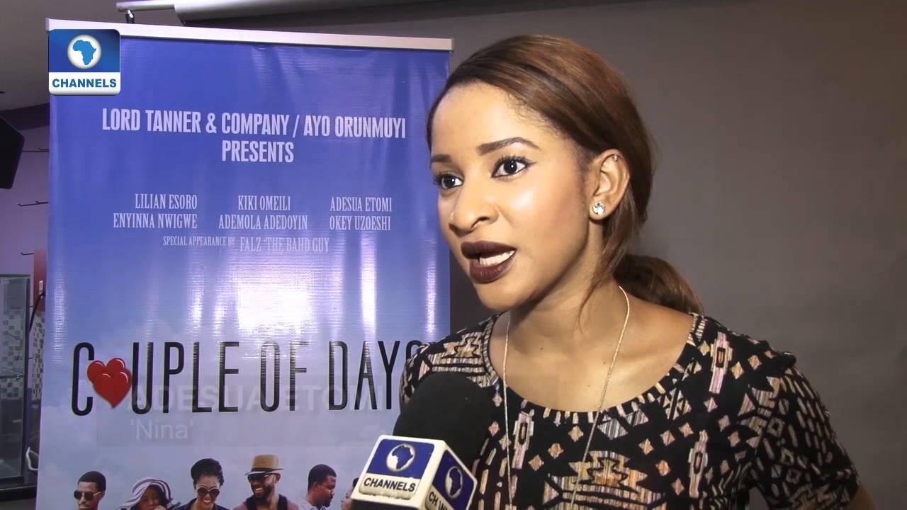 Download EN: Adesua Etomi, Kiki Omeli Out For 'A Couple Of Days' Movie Premiere