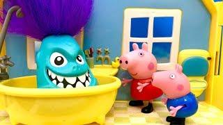 Świnka Peppa ♦ Monster w wannie ♦ Bajka dla dzieci PO POLSKU