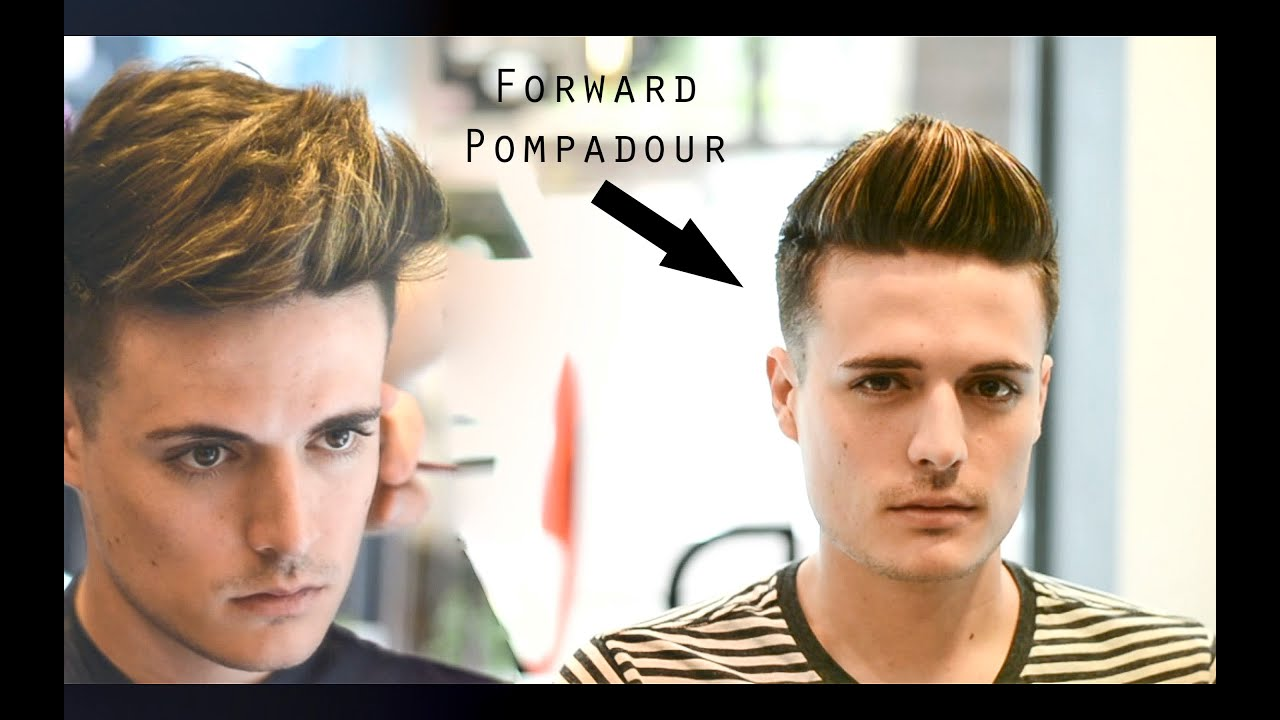 Mens Haircut Amp Hairstyle Forward Pompadour Slick Quiff