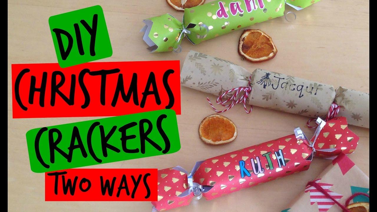 Christmas Crackers Diy.Diy Christmas Crackers Two Ways