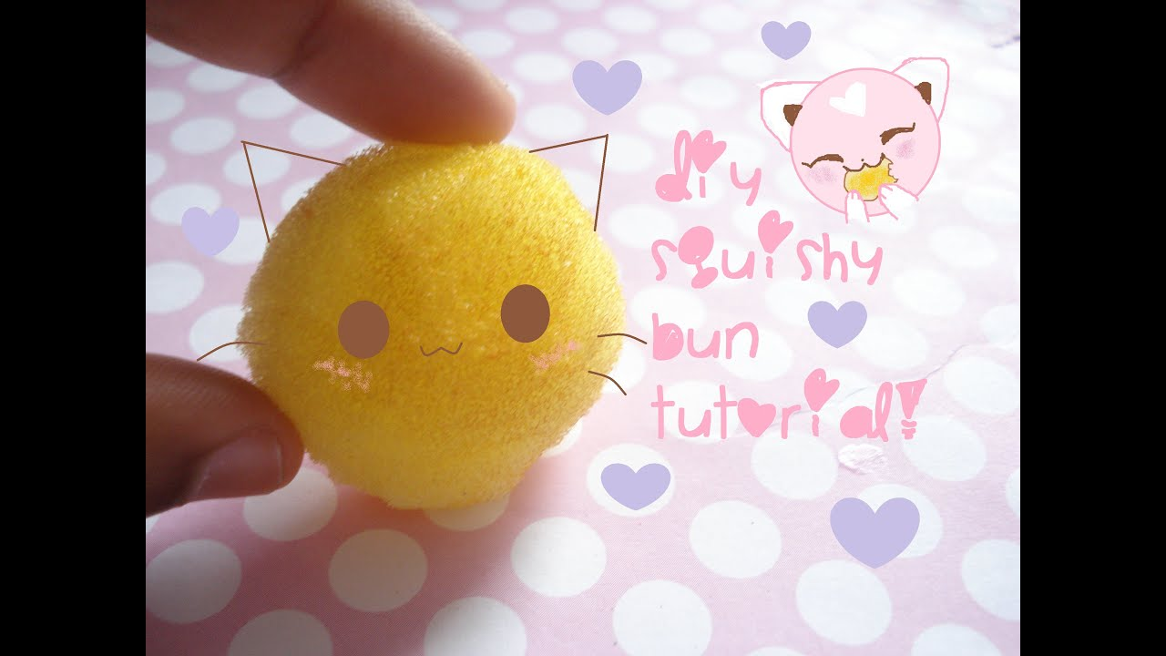 Squishy Bun Diy : DIY squishy bun tutorial!?? - YouTube