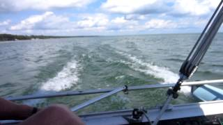 Prindle 16 sailboat catamaran on Lake Huron July 2013 HD