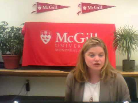 McGill University Admissions Video Webcast