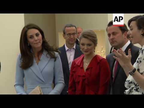 Duchess of Cambridge admires modern art in Luxembourg