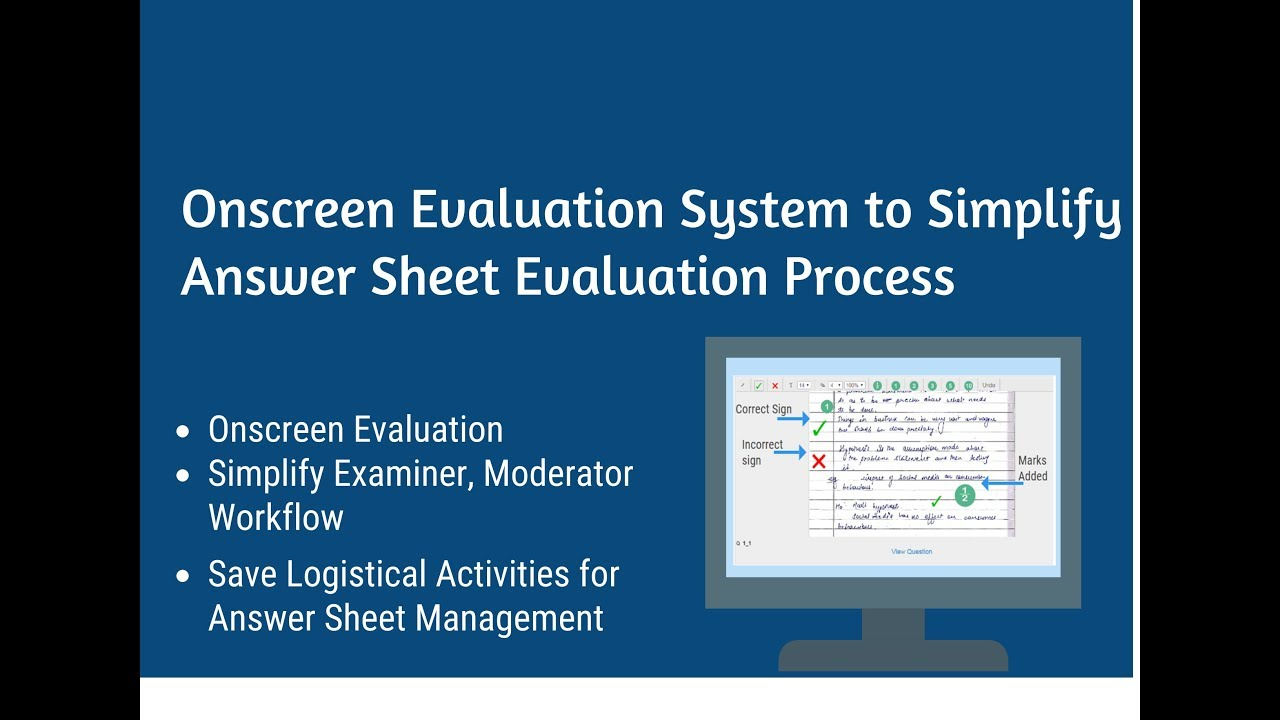 How Answer Sheet Checking Moderation can be simplified using