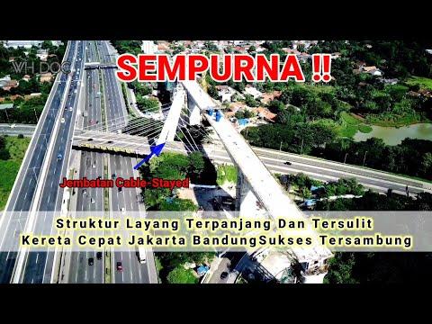Struktur Layang Terpanjang Dan Tersulit Di Proyek Kereta Cepat Jakarta-Bandung Sukses Tersambung.