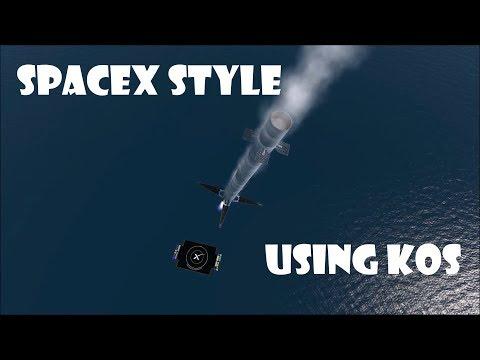 Ksp - Autonomous Rocket Take Off And Drone Ship Landing Using KOS - By SpaceLab