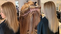 HOW TO APPLY WEFT HAIR EXTENSIONS   Step by step tutorial