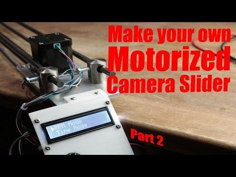DIY time lapse camera slider nano stepper driver : arduino