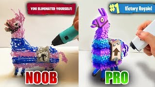 NOOB vs PRO 3D Pen Llama from Fortnite Battle Royale