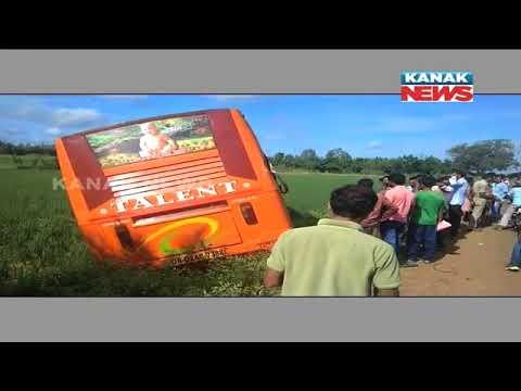 3 Killed, 35 Injured in Bus-Tanker Collision in Khordha