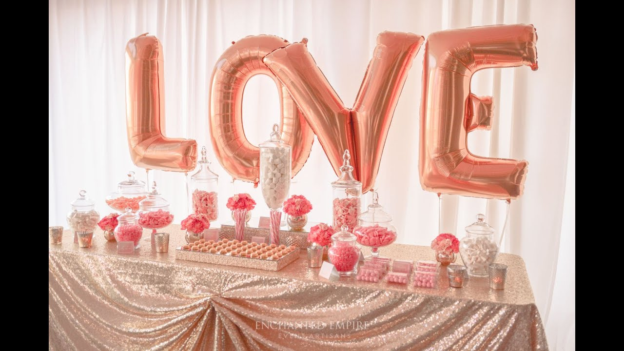 Coral And Gold Wedding Lolly Buffet Styled By Enchanted
