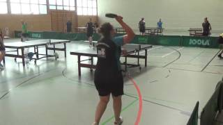 Commerzbank Tischtennis Cup Neuendettelsau 20160910 5 stoni vs Natalie Scanlon