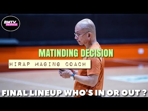 MATINDING DECISION NI COACH YENG GUIAO | FINAL 12 MAN LINEUP OF GILAS PILIPINAS | WHO'S IN AND OUT ?