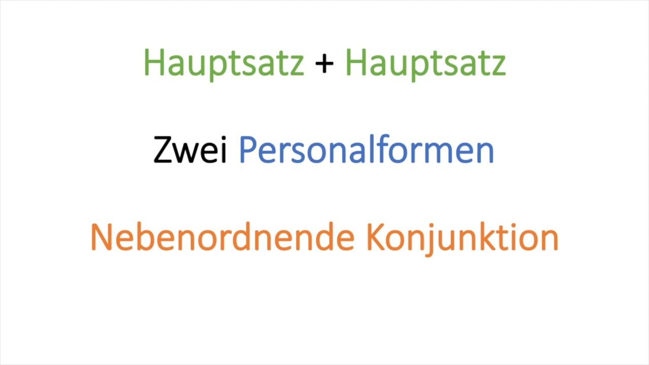 EInfacher Satz - zusammengesetzter Satz - YouTube