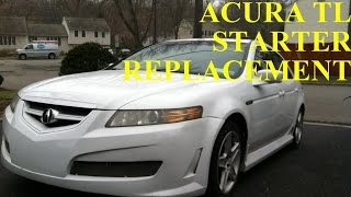 Acura TL Starter Replacement with Basic Hand Tools HD