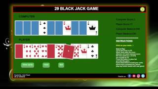 Web Development BlackJack Game in JavaScript - Assignment Video Demonstration