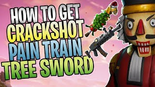 FORTNITE - How To Get The Crackshot Soldier, Pain Train AR, And Tree of Light Sword